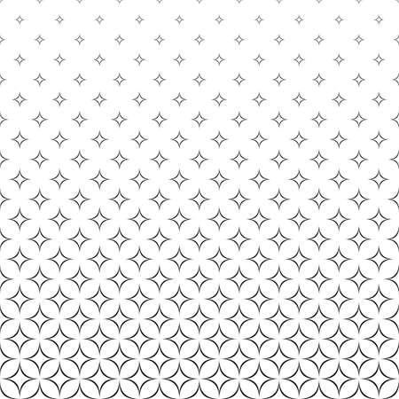 Seamless black and white vector star pattern design Illustration