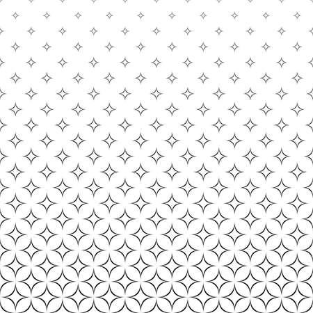 Seamless black and white vector star pattern design