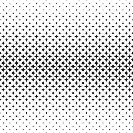 monochromatic: Repeating monochromatic vector star pattern design background Illustration