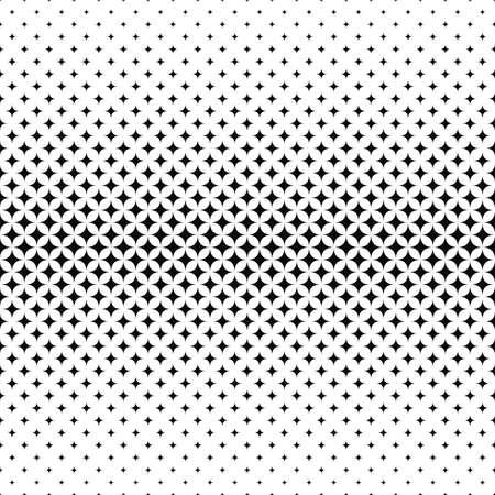star pattern: Repeating monochromatic vector star pattern design background Illustration