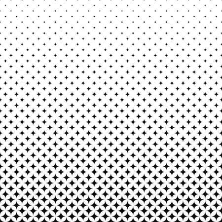 Seamless monochrome vector star pattern design background