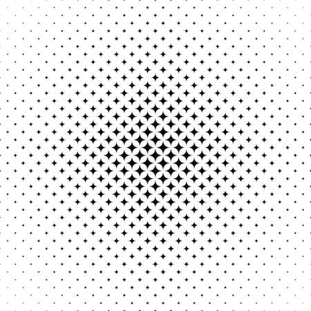 monochromatic: Seamless monochromatic vector star pattern design background