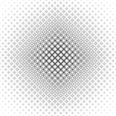 star pattern: Repeat black and white vector star pattern design