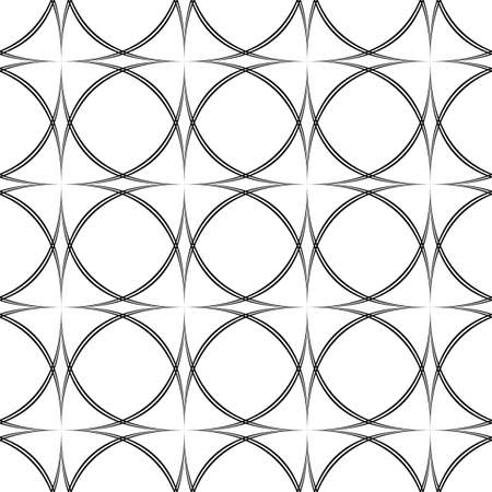 monochromatic: Repeating monochromatic vector curved pattern design background