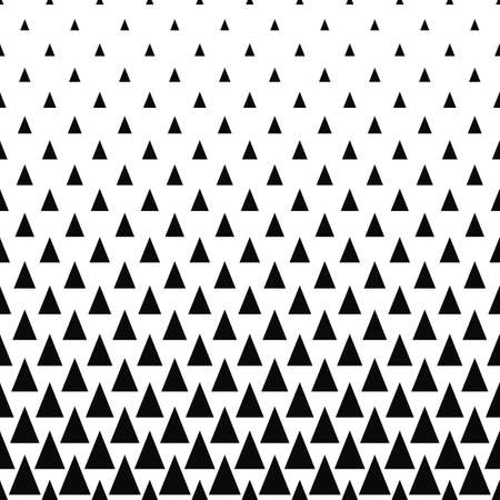 Repeating monochrome vector triangle pattern design background
