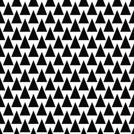 fabric patterns: Repeating black and white vector triangle pattern background