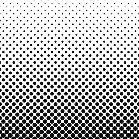 Repeating black white abstract circle pattern design background Ilustração
