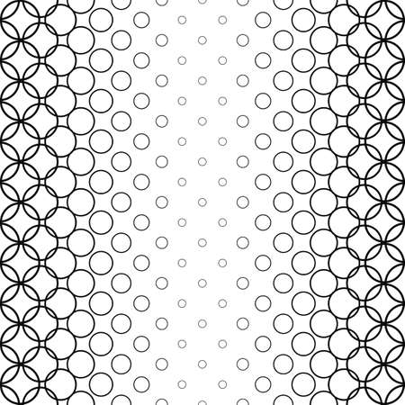 monochromatic: Repeat monochromatic abstract circle vector pattern background