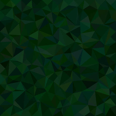 dark green: Dark green irregular triangle mosaic vector background design Illustration