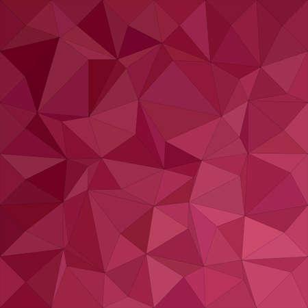Maroon irregular triangle mosaic vector background design Illustration