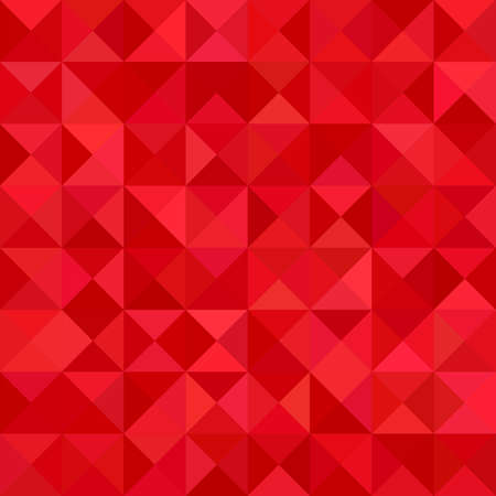 Red color triangle mosaic vector background design