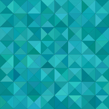 Teal color triangle mosaic vector background design