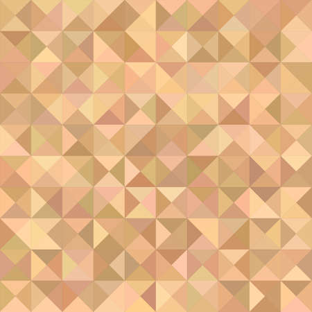 light brown: Light brown triangle mosaic vector background design