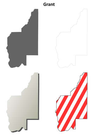 Pierce County Washington Blank Outline Map Set Royalty Free - Blank empty map of us