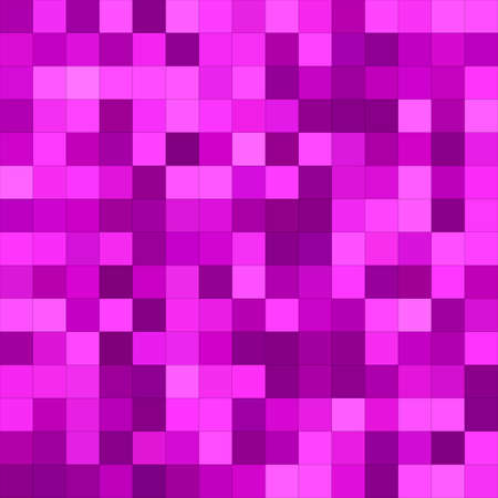 Magenta color square mosaic vector background design