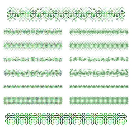 Graphic design elements - green page divider line set Illustration