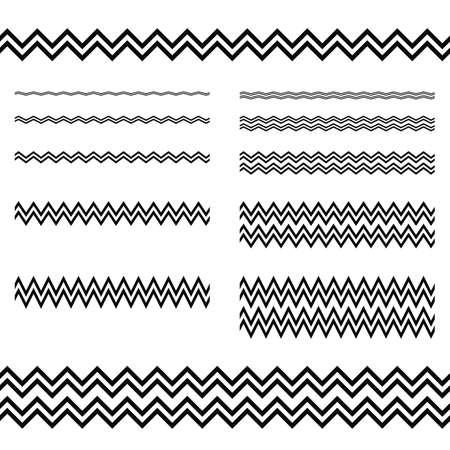decorative lines: Graphic design elements - zigzag line page divider set