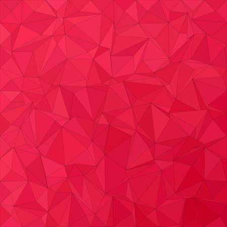 Crimson irregular triangle mosaic background design