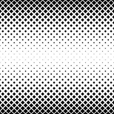 Seamless black and white square pattern background Ilustração