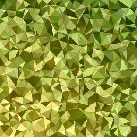 オリーブ不規則な三角形モザイク背景デザイン