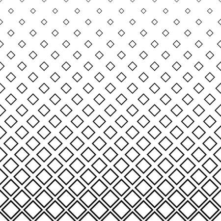 Seamless black and white square pattern background Illustration