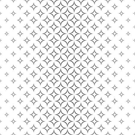 star pattern: Seamless monochrome abstract star pattern design background Illustration