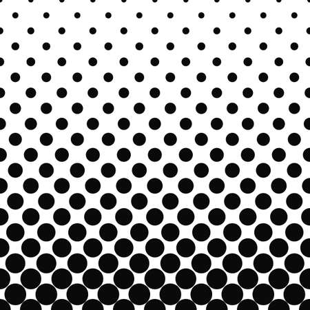 Seamless monochromatic circle pattern design background 일러스트