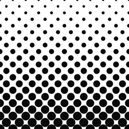 Seamless monochromatic circle pattern design background Illustration