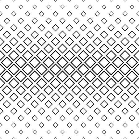 horizontal: Seamless monochrome abstract square pattern background design