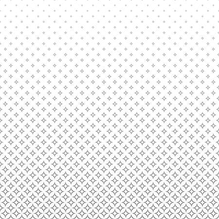 star pattern: Repeating black and white abstract star pattern background