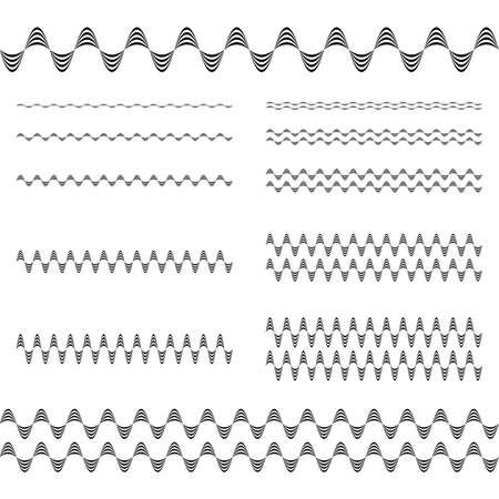 decorative line: Design elements - ornamental text divider line set Illustration