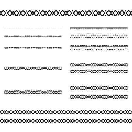 dividing line: Design elements - ornamental text divider line set Illustration