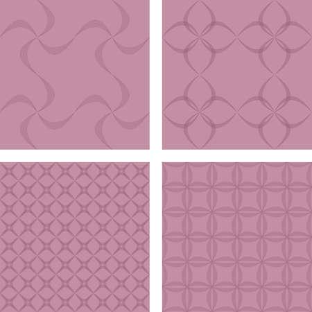 curved line: Vintage seamless curved line pattern background set