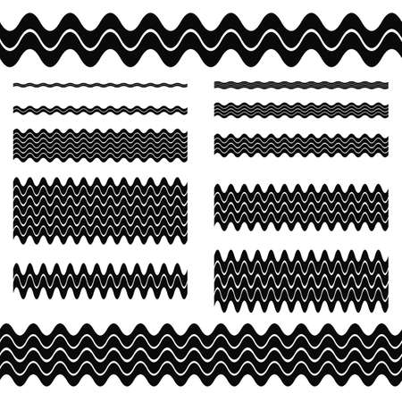 dividing line: Graphic design elements - wave line page divider set