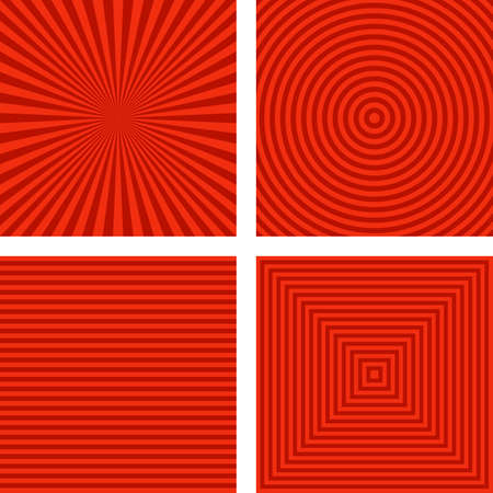 collection red: Simple abstract red striped pattern background set