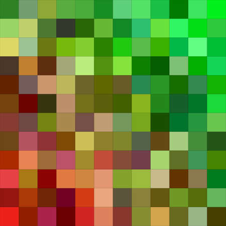 red' green: Red green color square mosaic background design