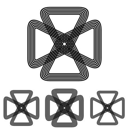 loop: La ciencia, la ingenier�a de bucle conjunto de s�mbolos de dise�o de logotipo Vectores