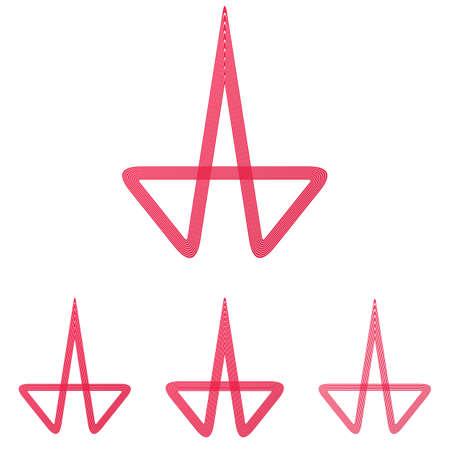 crimson: Crimson line research logo icon design set