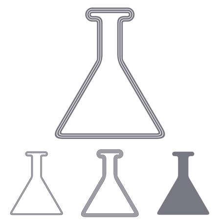 grey line: Grey line research logo icon design set Illustration