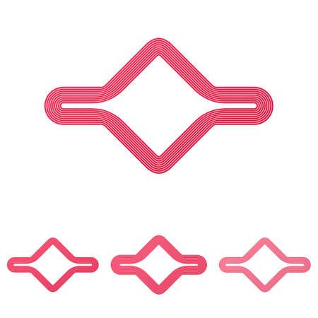 crimson: Crimson line abstract loop logo design set Illustration