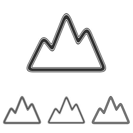 everest: Black line adventure symbol logo design set