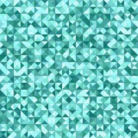 Teal color triangle mosaic vector background design Illustration