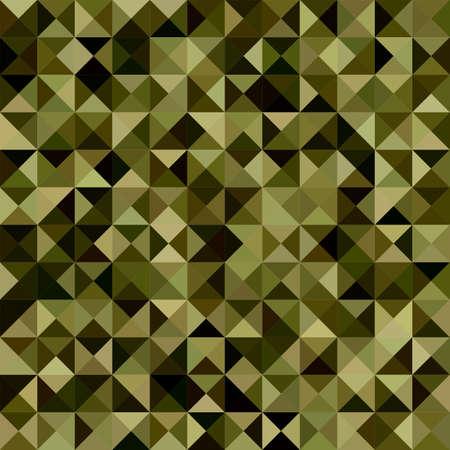 dark olive: Dark green color triangle mosaic vector background design Illustration