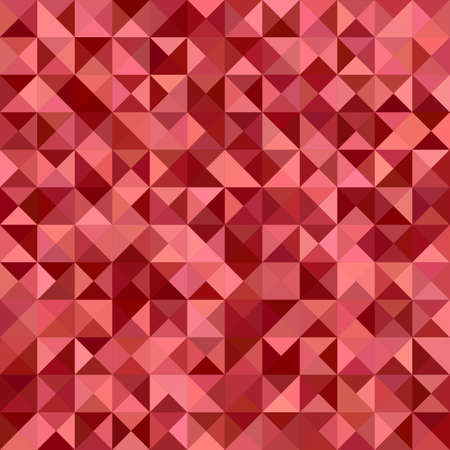 polyhedron: Red color triangle mosaic vector background design