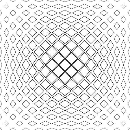 convex shape: Black and white abstract square pattern background Illustration