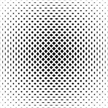 rounded: Black white vector rounded square pattern background