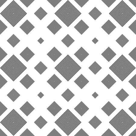 Répétition de noir et blanc carré motif de fond