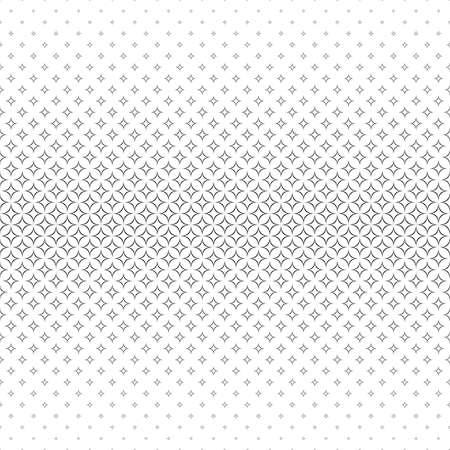 star pattern: Seamless black white abstract star pattern design Illustration