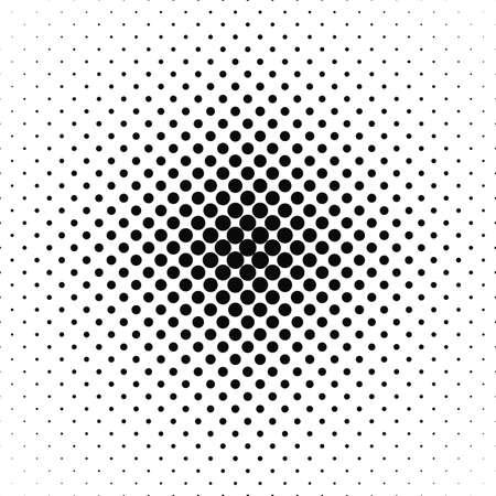 La repetición blanco y negro del vector patrón de fondo del círculo