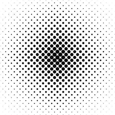 Repeating black and white vector circle pattern background